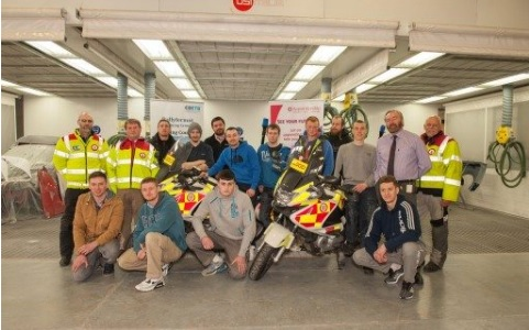 Ballyfermot Training Centre Collaboration with Blood Bikes
